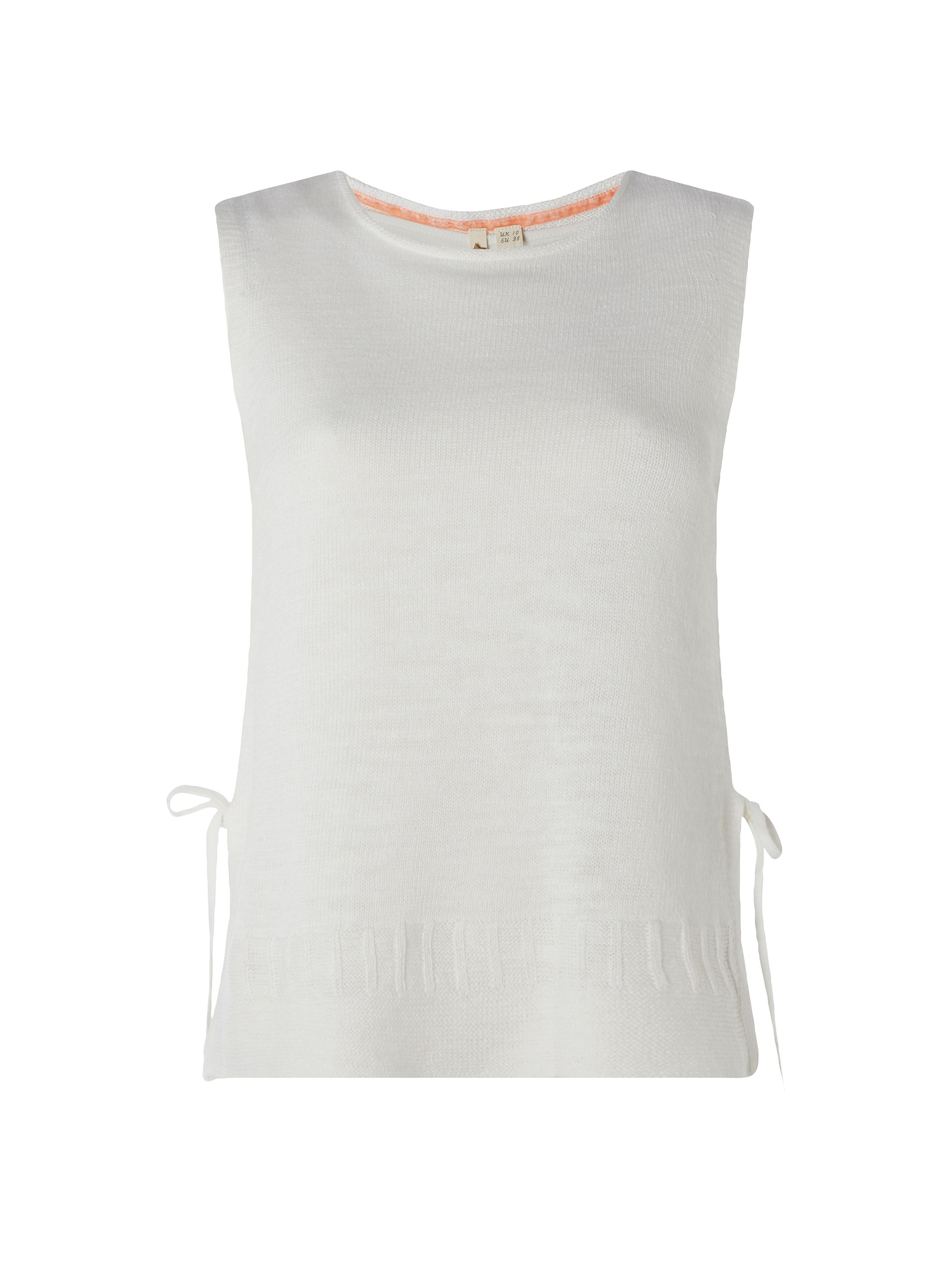 White Stuff Santa Maria Knit Vest, White