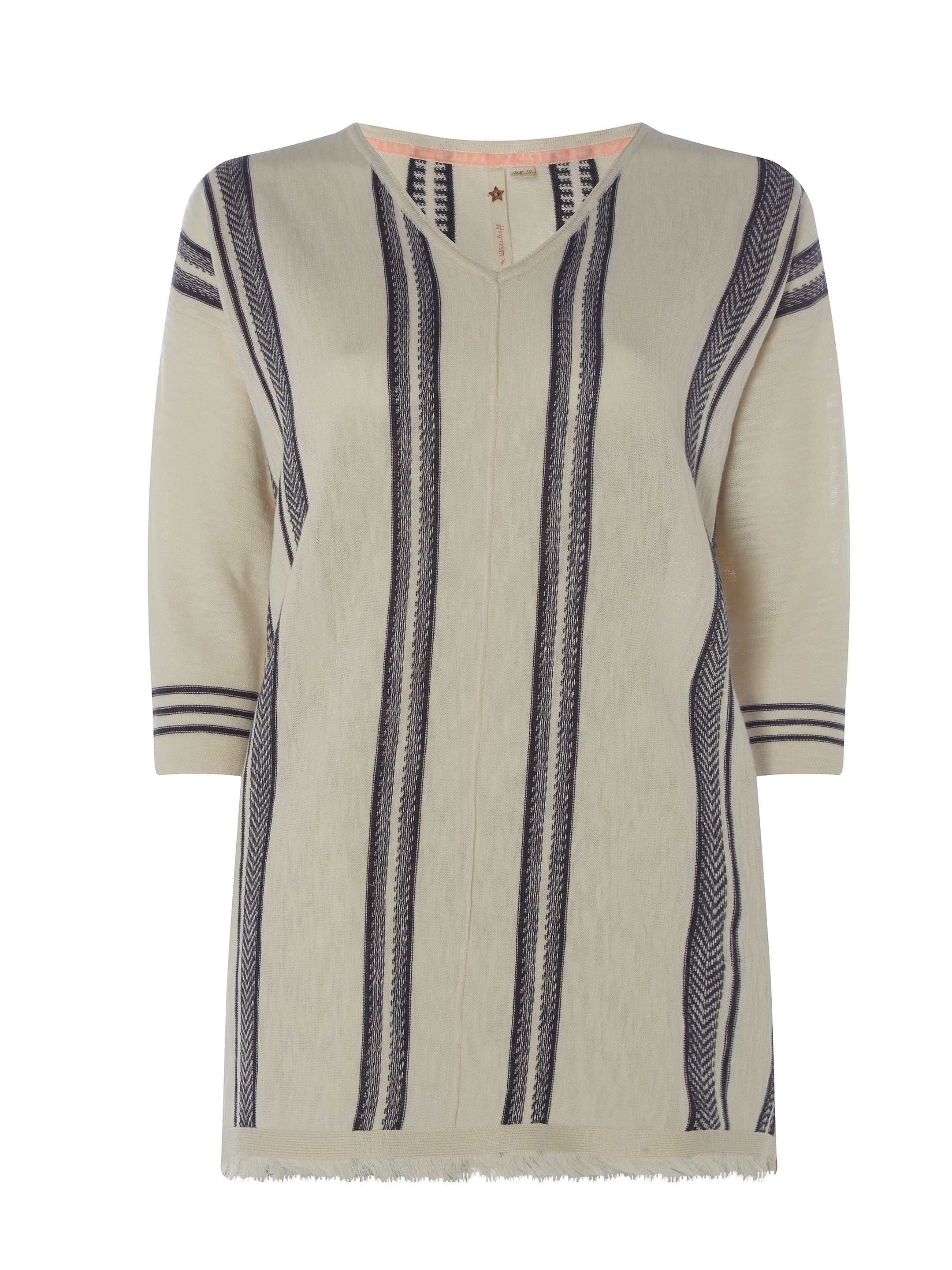 White Stuff Shore Stripe Knit Tunic, Natural
