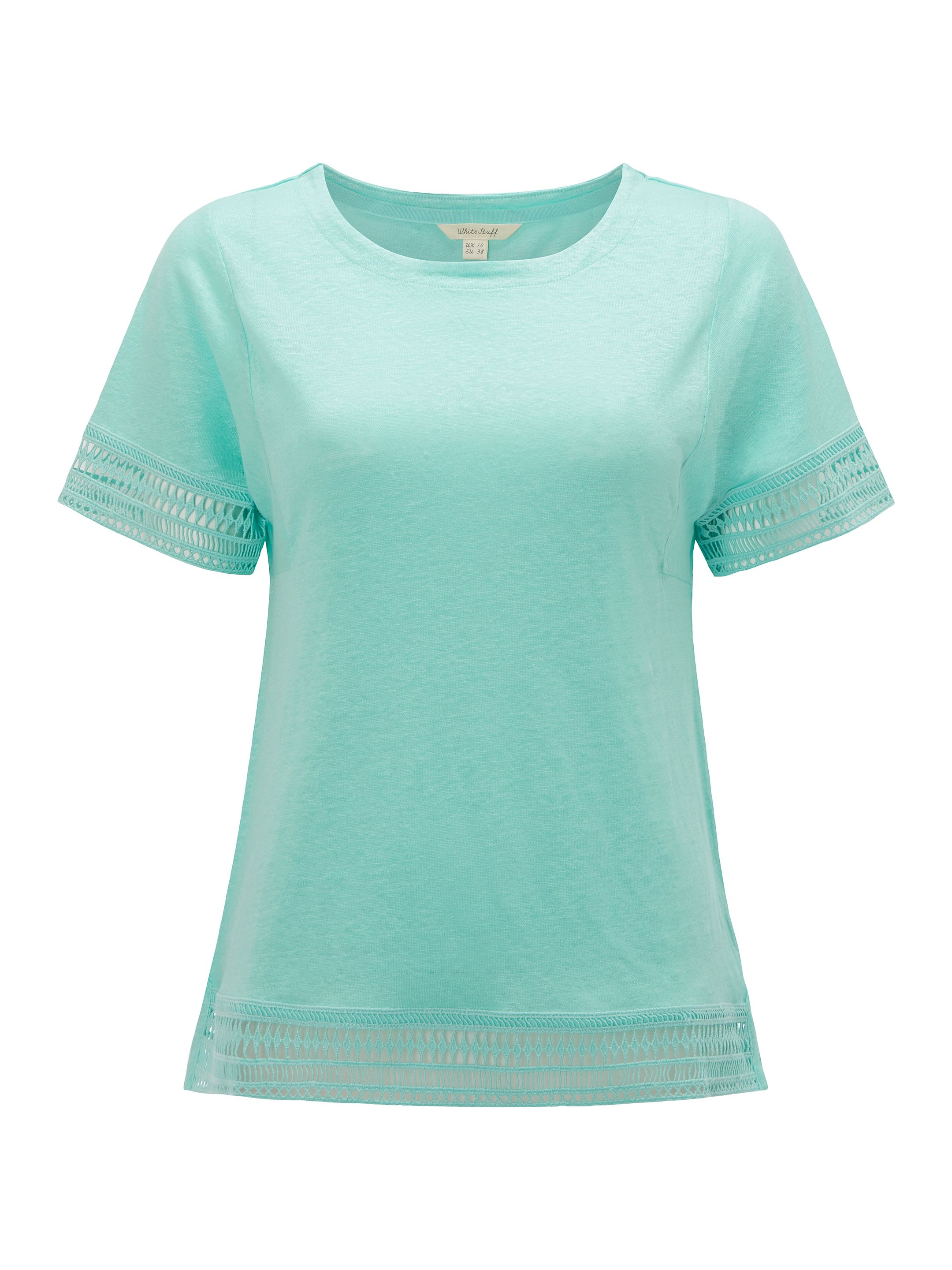 White Stuff Shelly Jersey Tee, Green