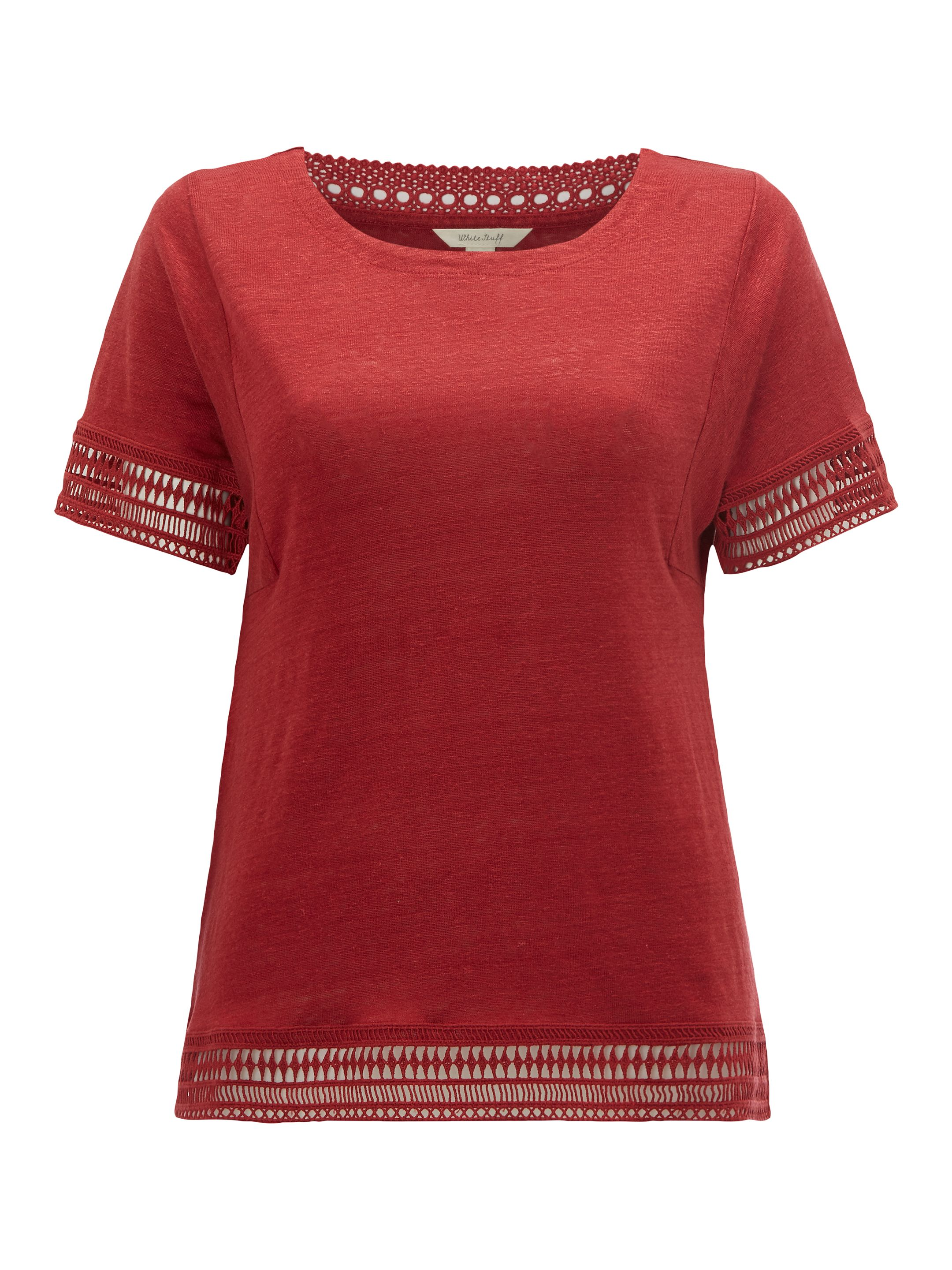 White Stuff Shelly Jersey Tee, Red