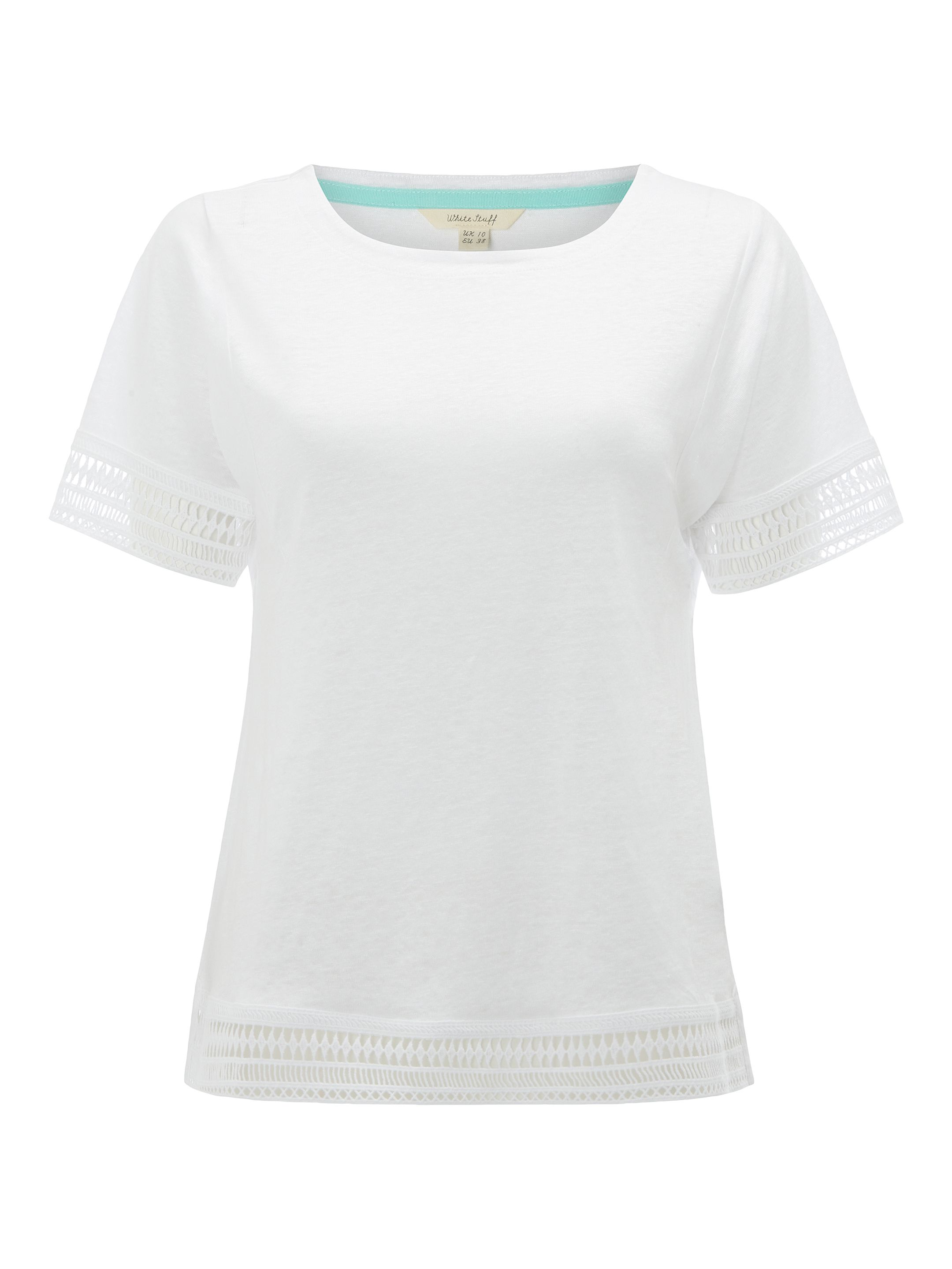 White Stuff Shelly Jersey Tee, White