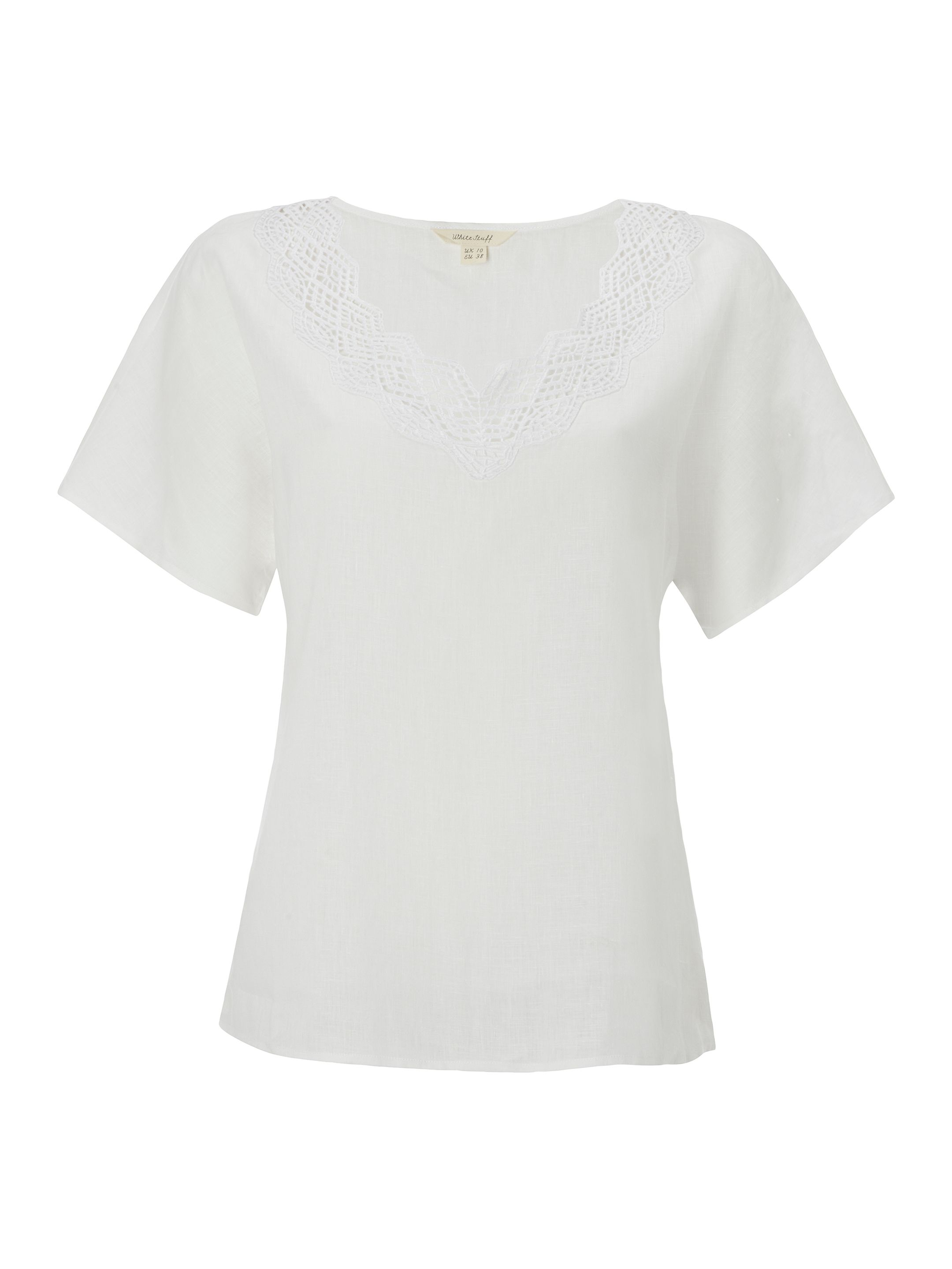 White Stuff Connie Linen Top, White