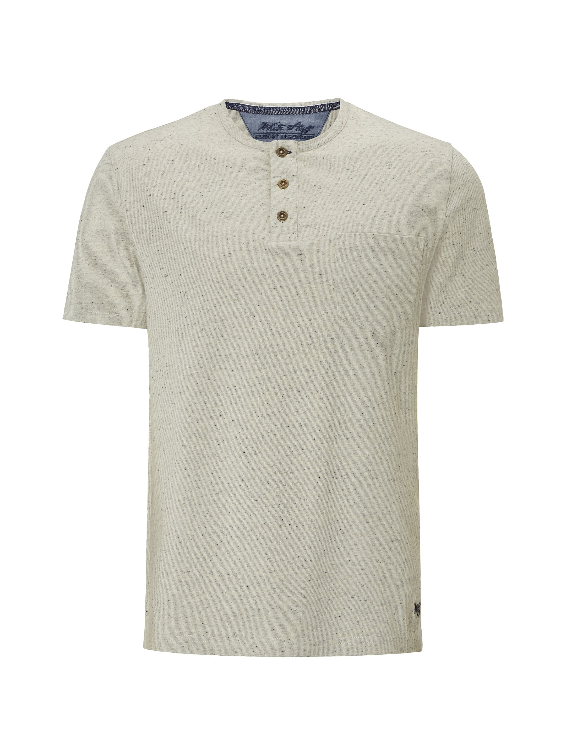 Men's White Stuff Global Henley Short Sleeve Tee, Oatmeal