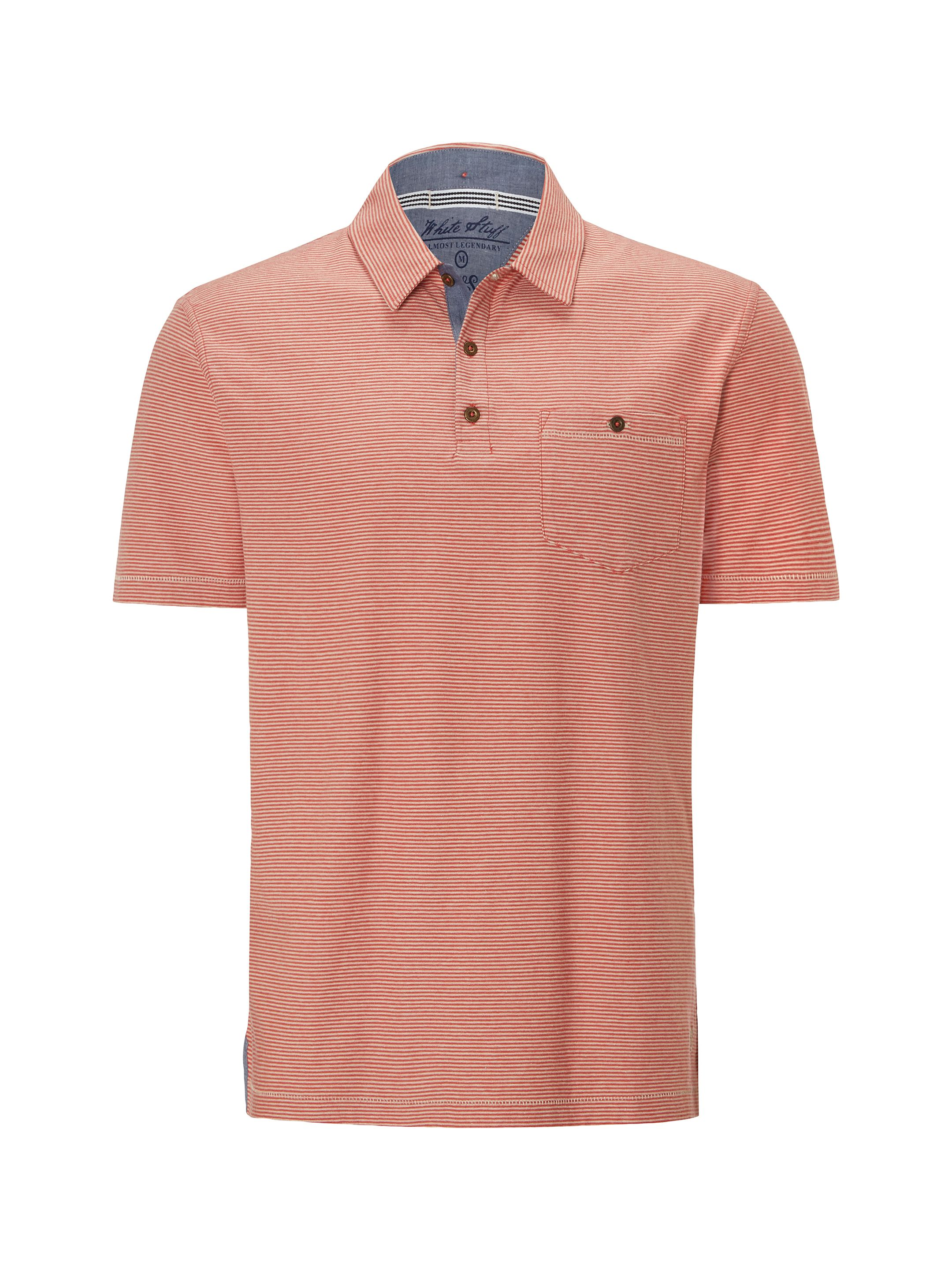 Men's White Stuff Berkshire Stripe Polo, Red