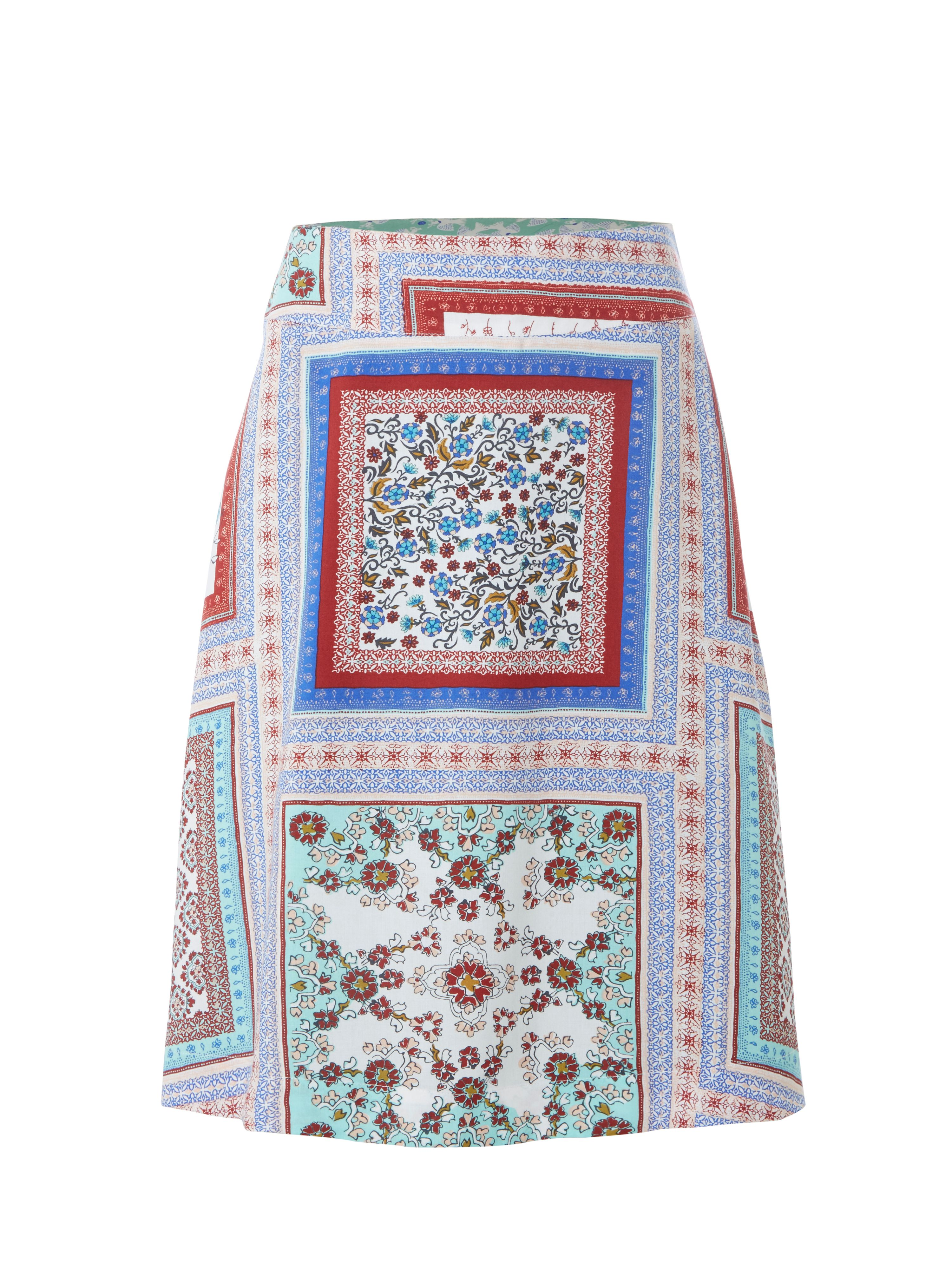 White Stuff Tranquil Reversible Skirt, Multi-Coloured