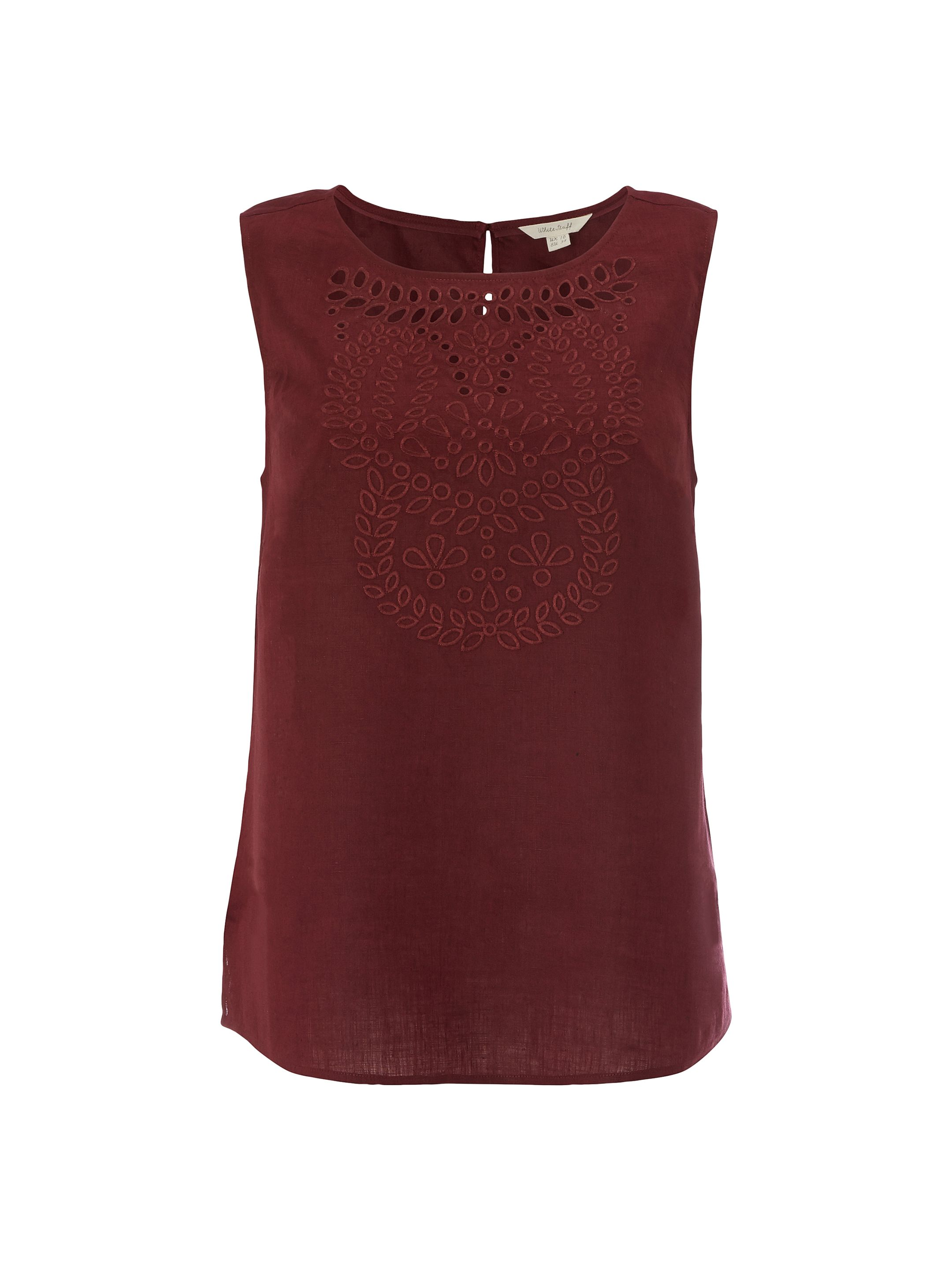 White Stuff Cutwork Karala Vest, Red