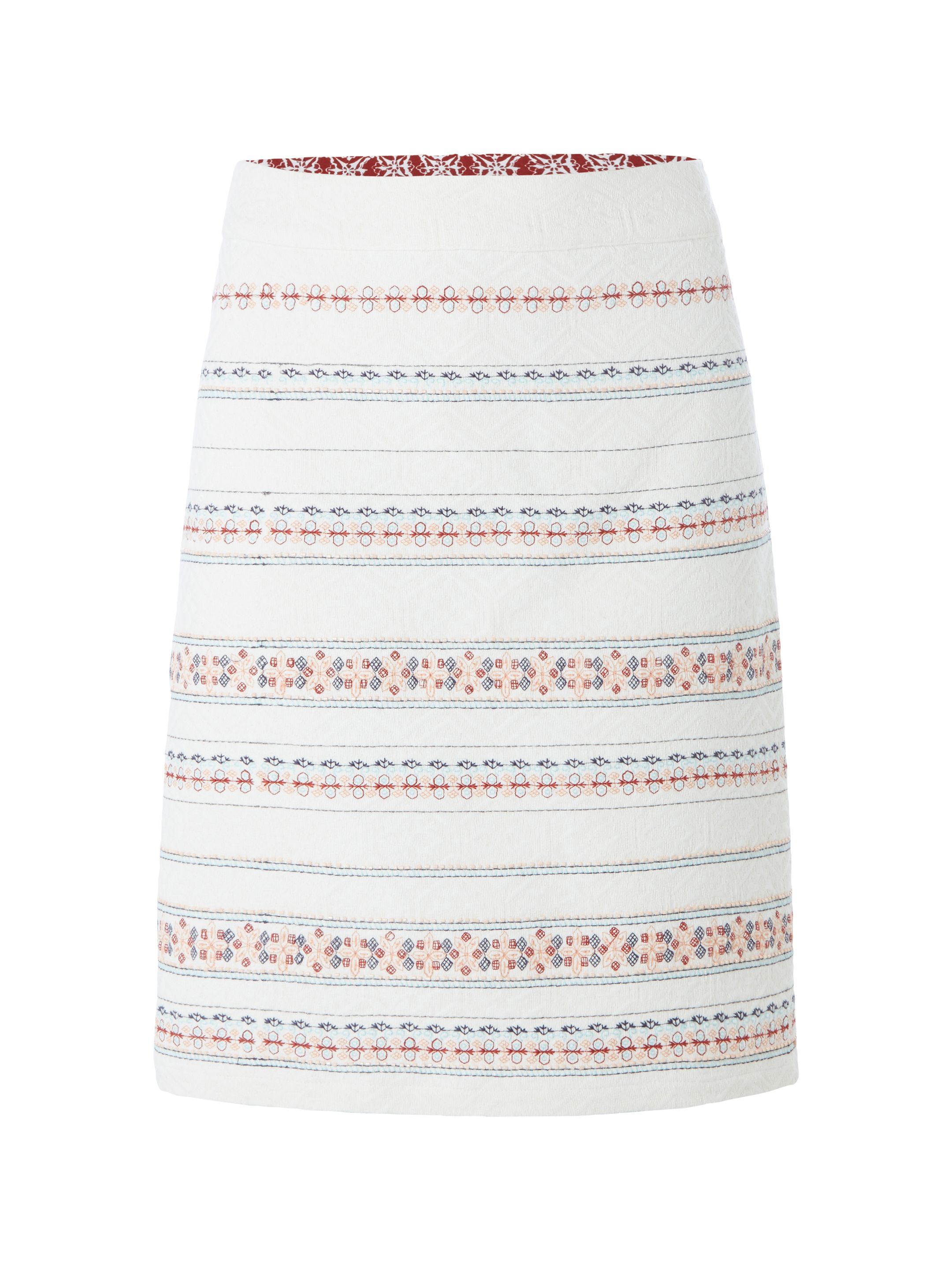 White Stuff Vimara Trophy Skirt, Multi-Coloured