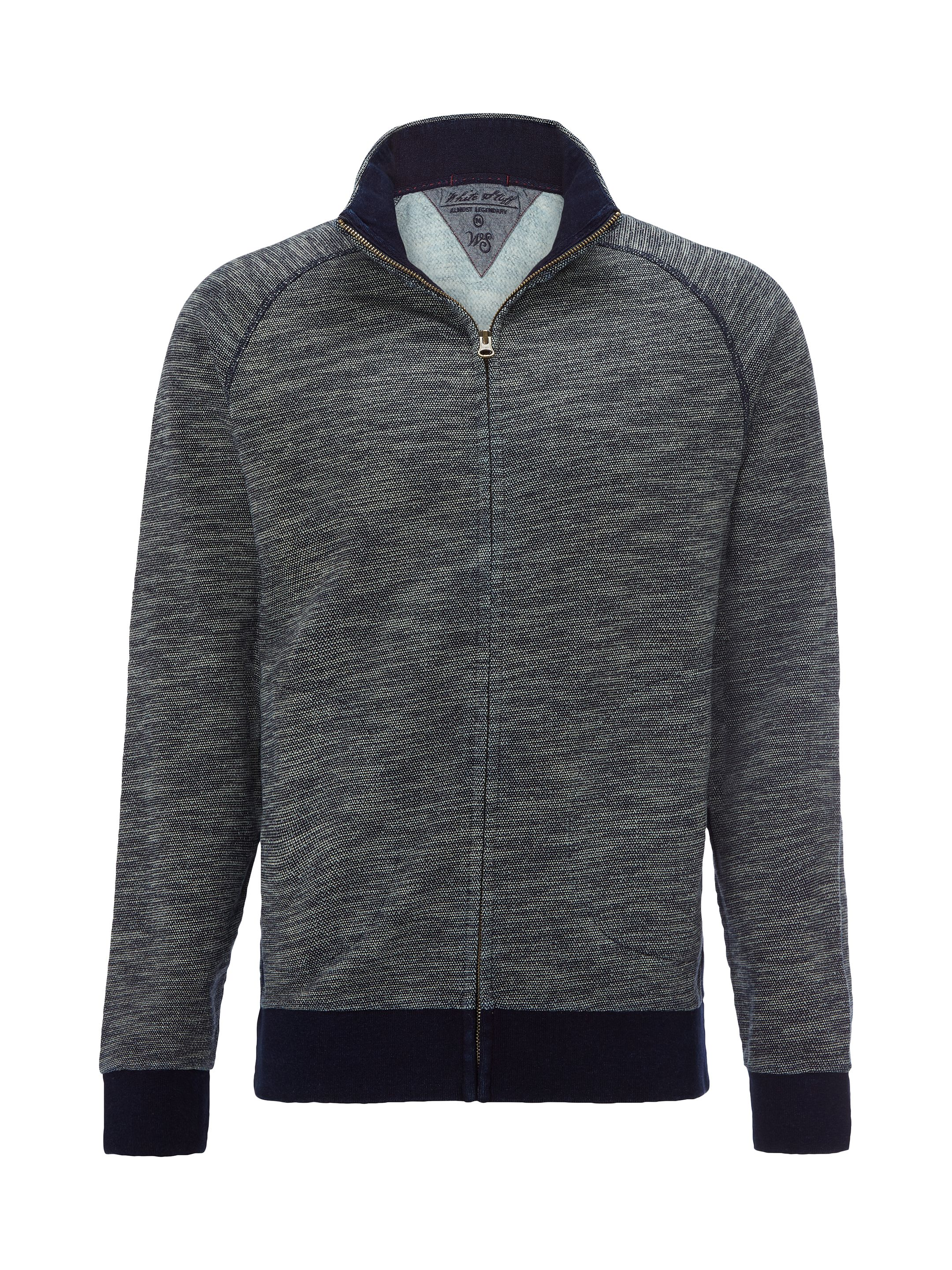 Men's White Stuff Eclipse Indigo Funnel Sweat, Indigo
