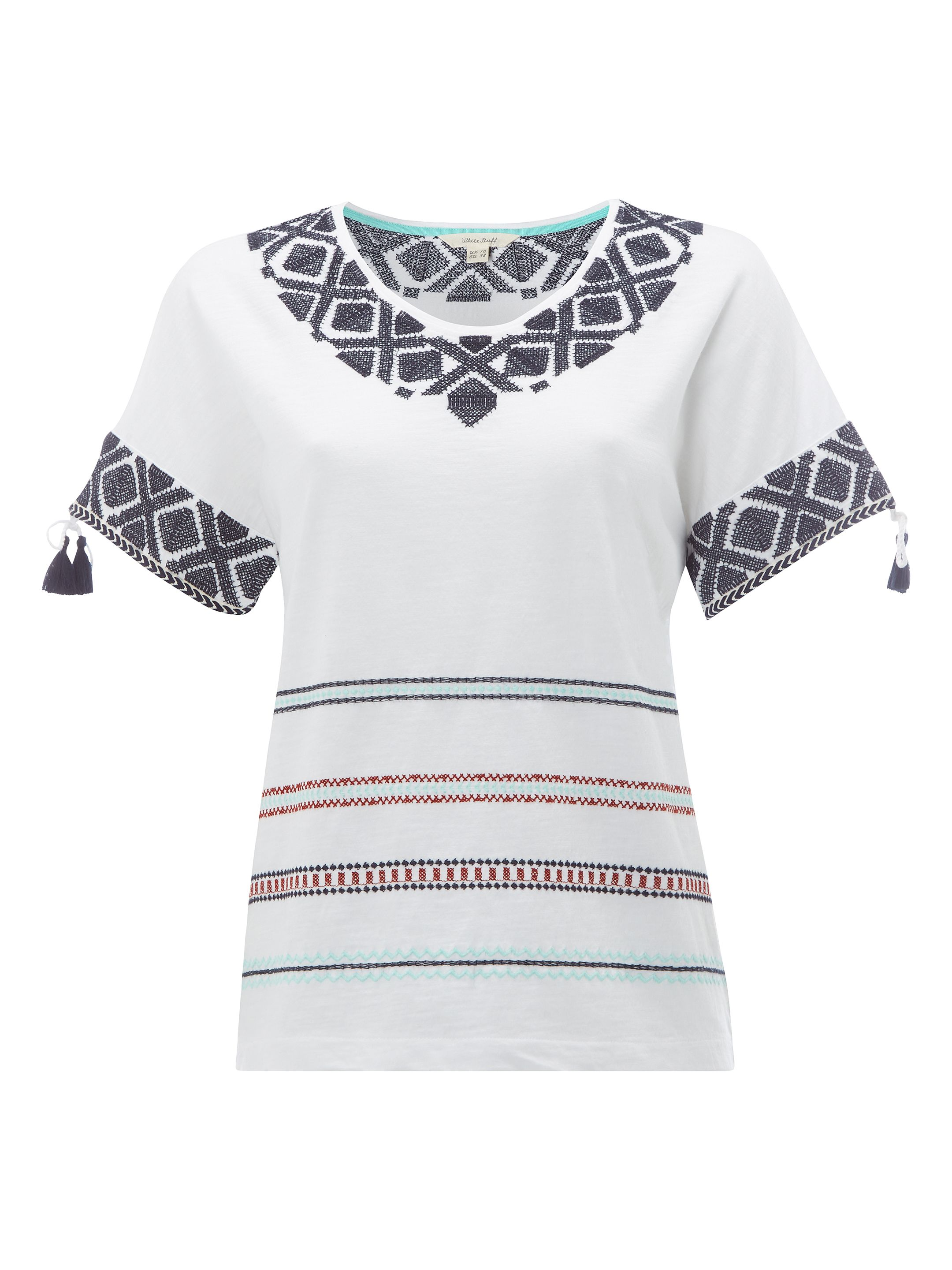 White Stuff Porto Multi Stripe Tee, Multi-Coloured
