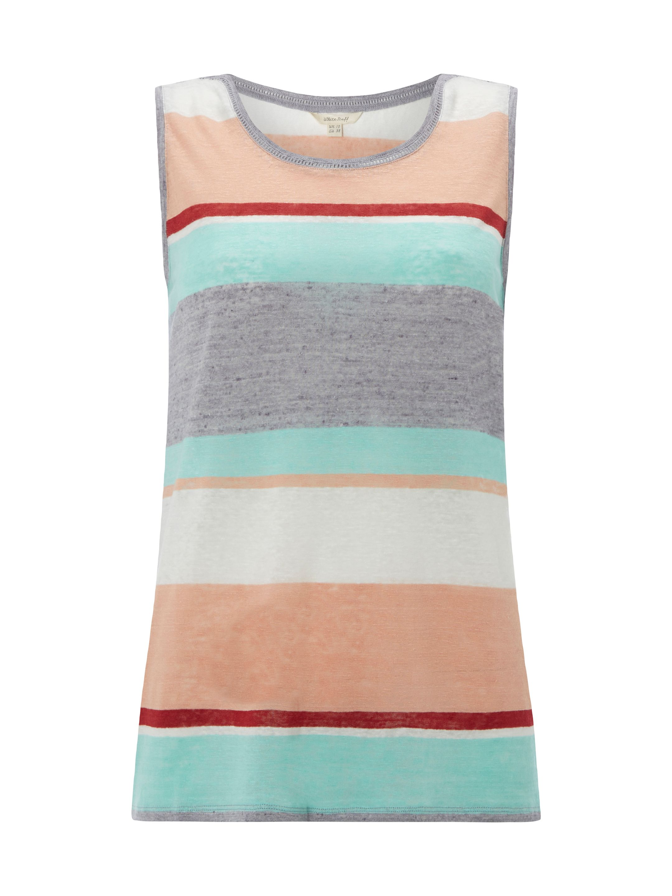 White Stuff Porto Multi Stripe Vest, Multi-Coloured