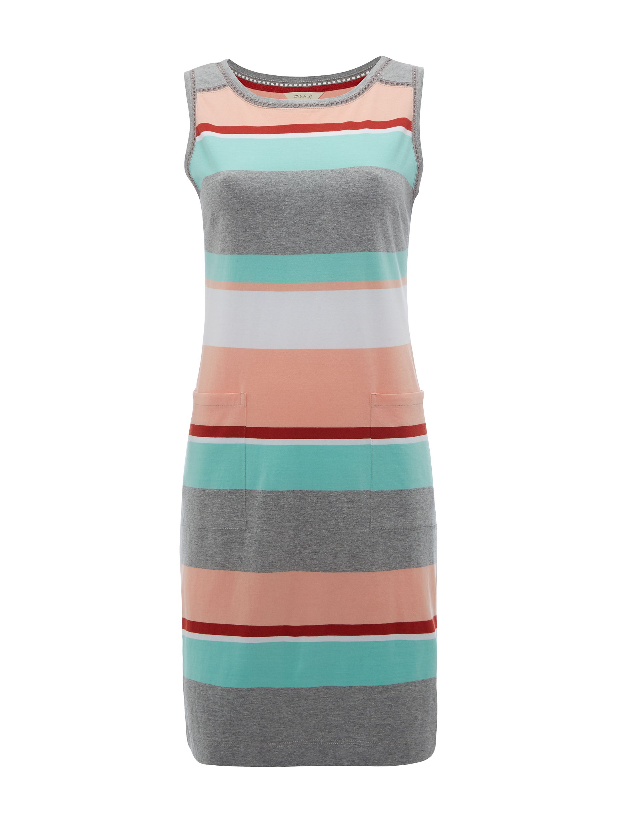White Stuff Polly Porto Stripe Dress, Multi-Coloured