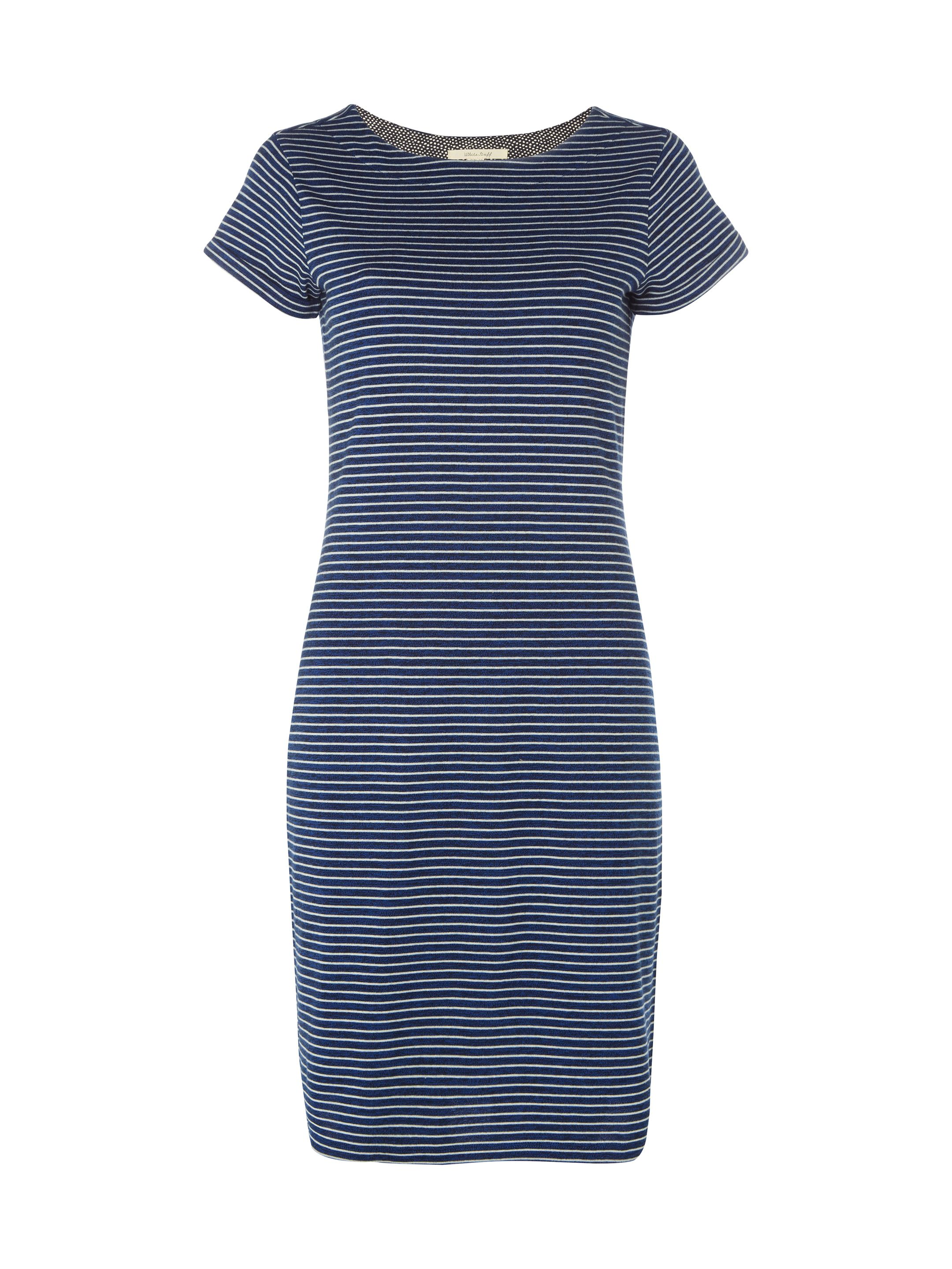 White Stuff Annelise Stripe Dress, Blue