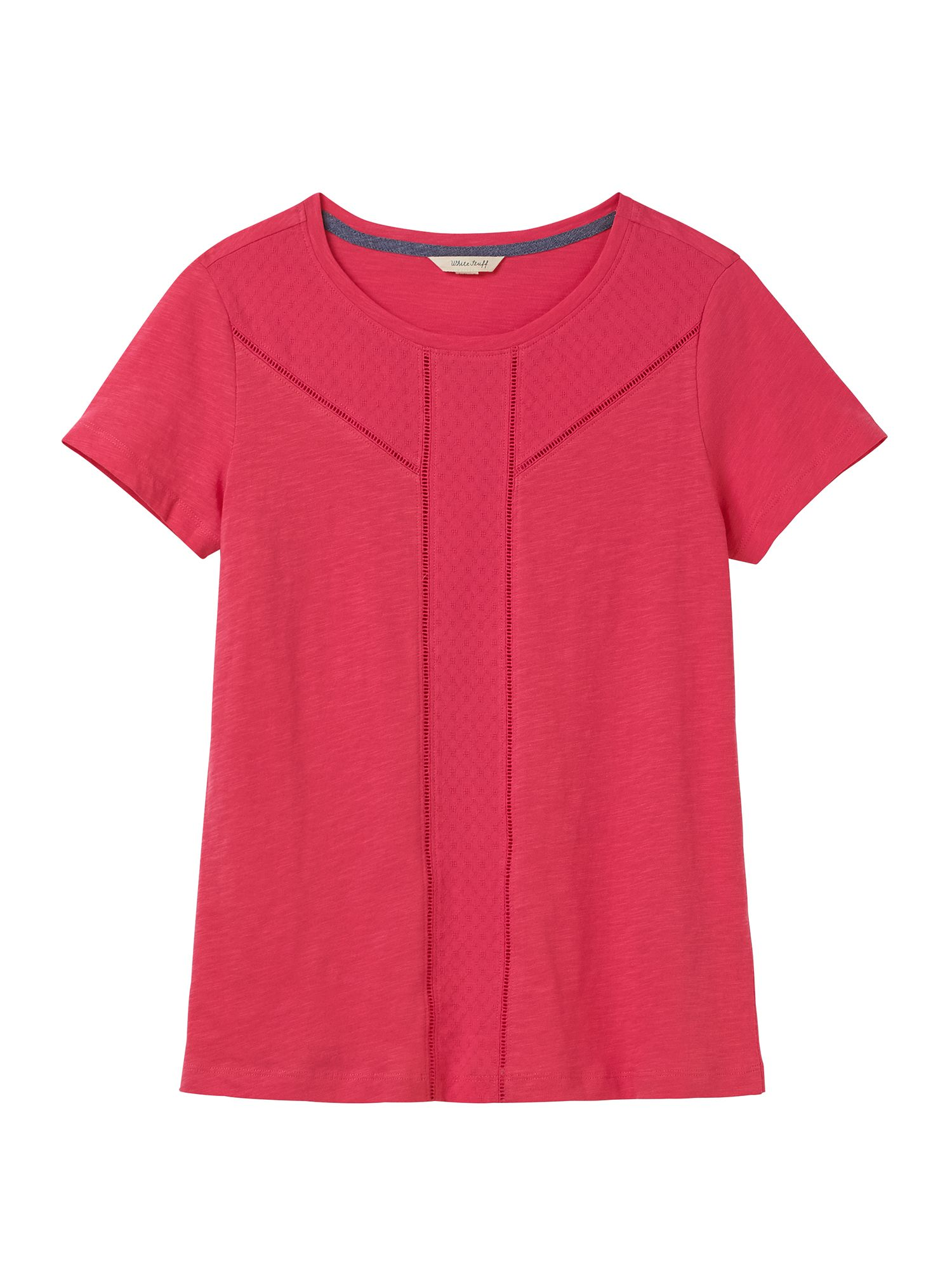 White Stuff Amelie Jersey Tee, Candy Pink