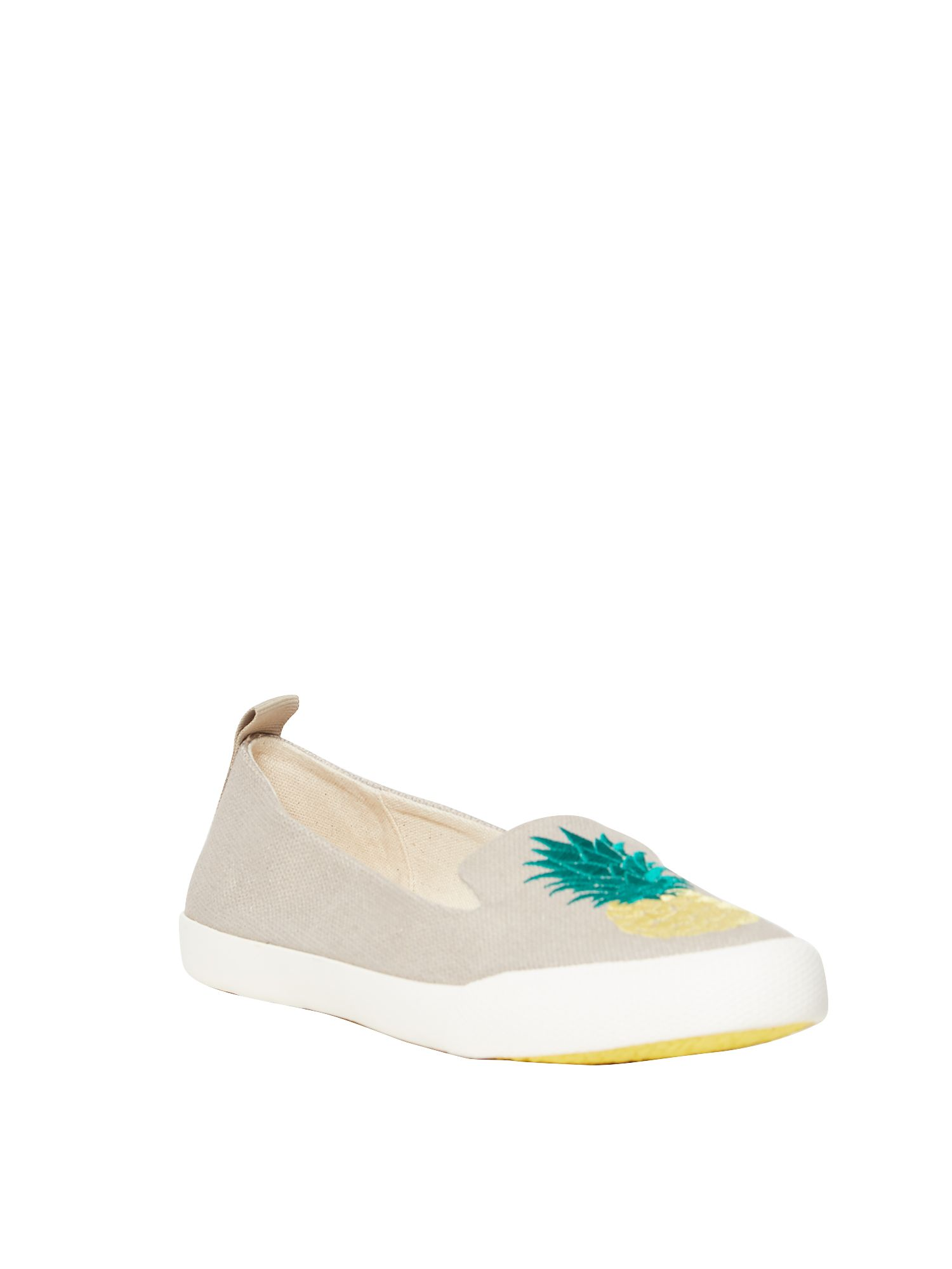 White Stuff Pineapple Pointed Slip On Pump, Natural