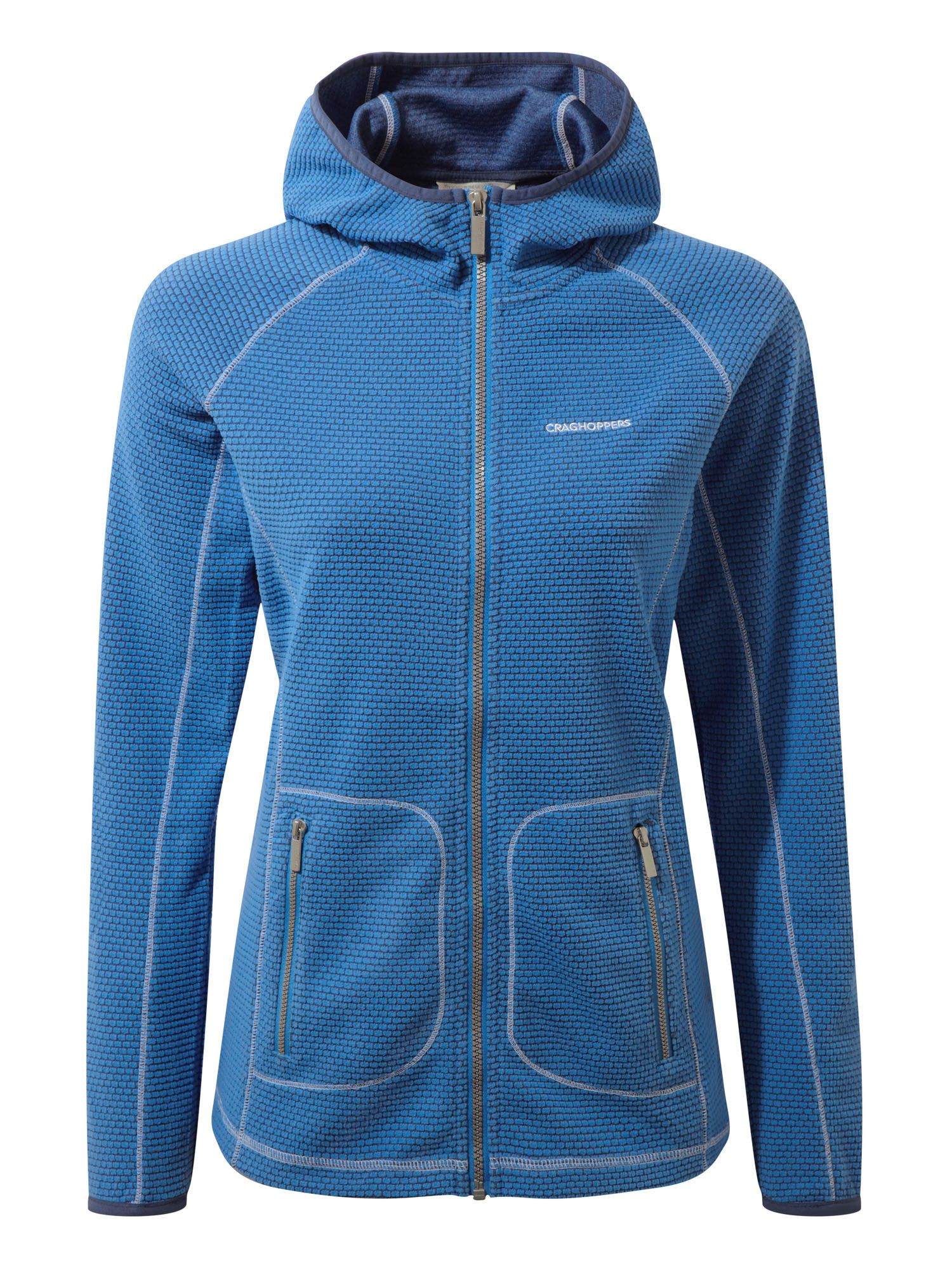 Craghoppers Hazelton Hooded Fleece Jacket, Blue