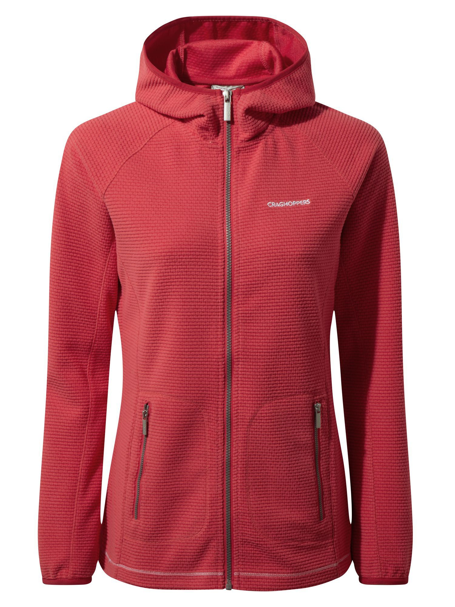 Craghoppers Hazelton Hooded Fleece Jacket, Rose