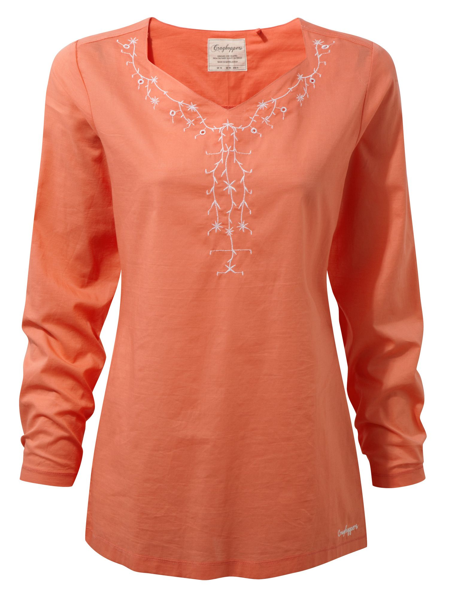 Craghoppers Rayna Long Sleeved Lightweight Top, Orange