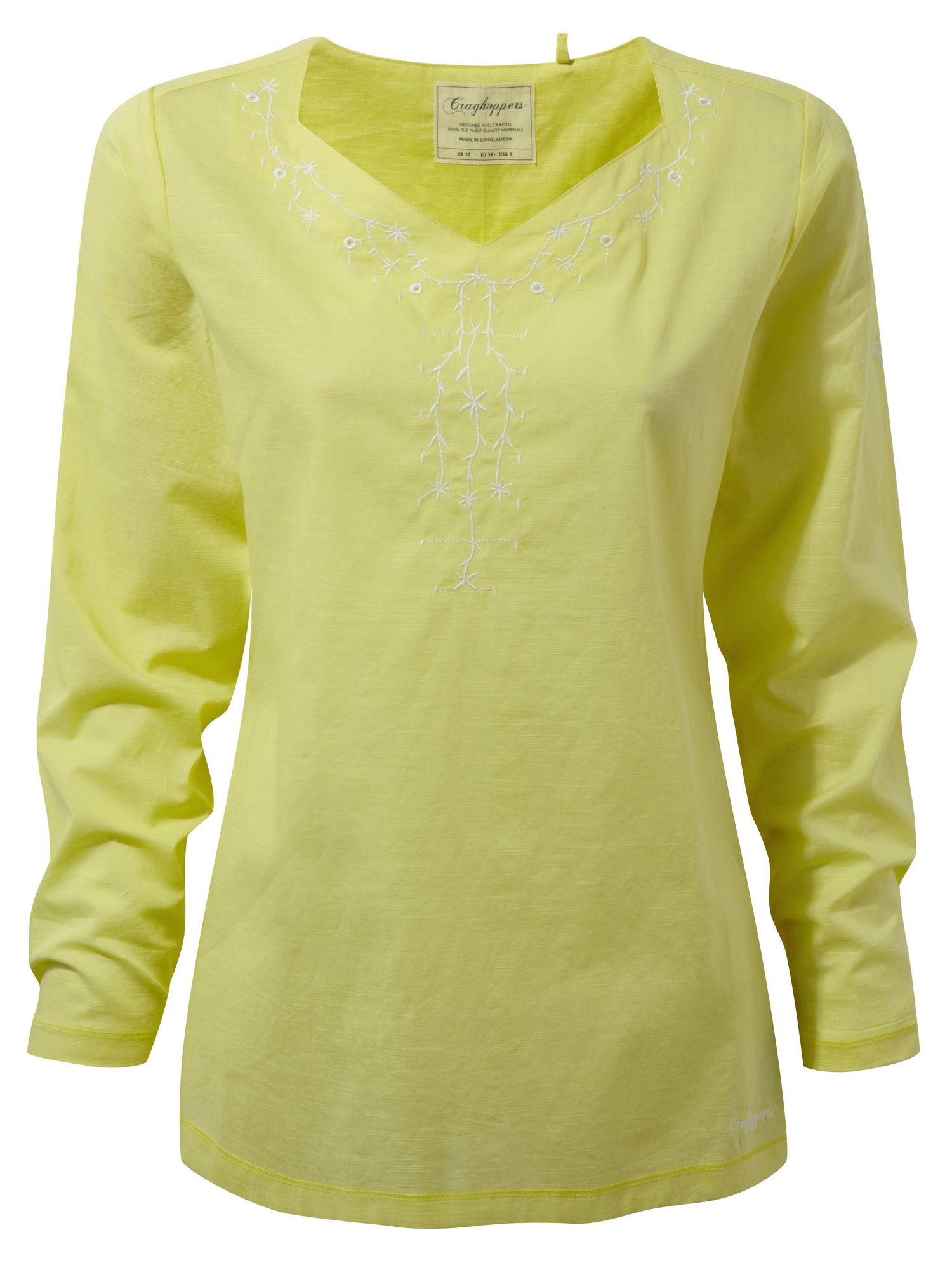 Craghoppers Rayna Long Sleeved Lightweight Top, Green