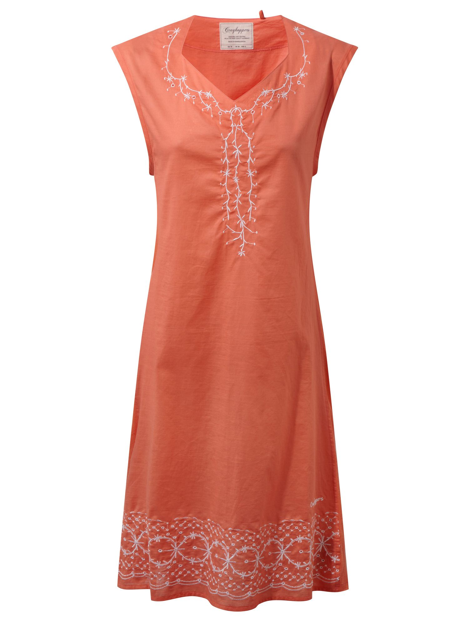 Craghoppers Scarlett Sleeveless Dress, Orange