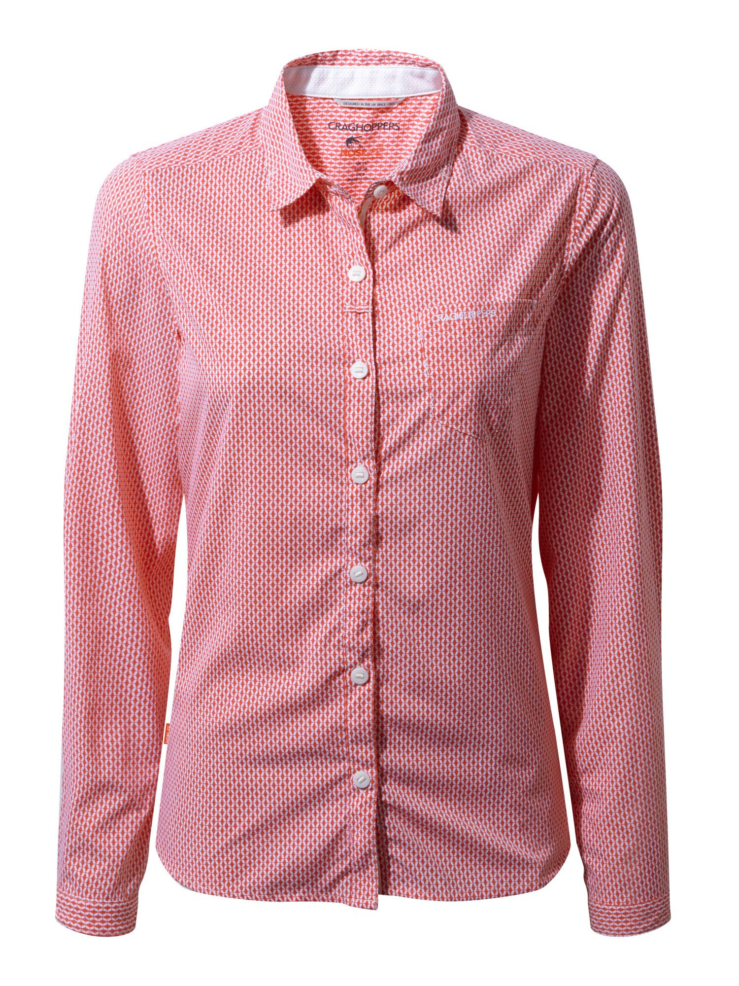 Craghoppers NosiLife Shona Long Sleeved Shirt, Pink