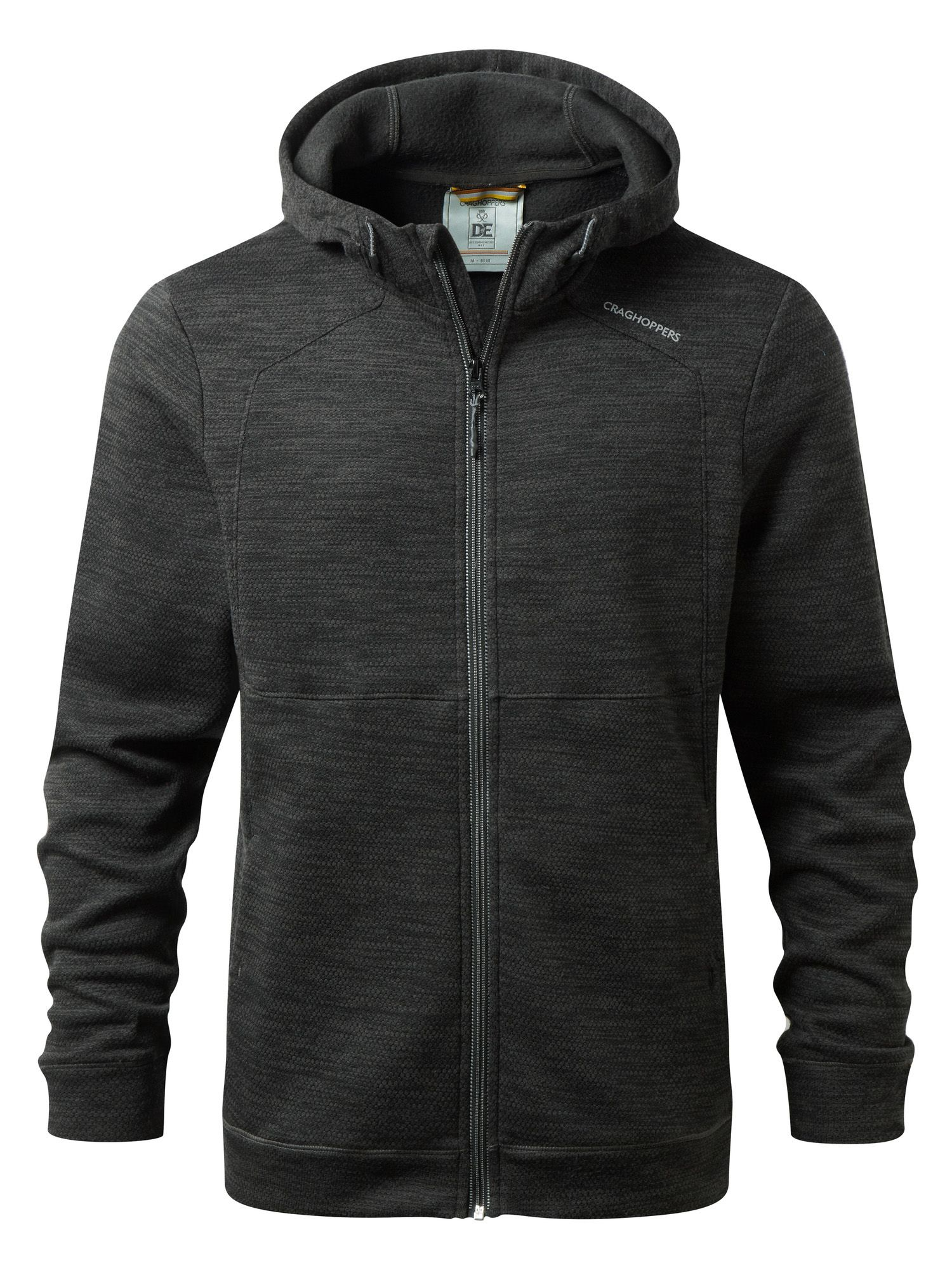 Men's Craghoppers Vector Lightweight Hooded Jacket, Black