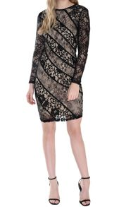 True Decadence Sheer Lace Bodycon Dress
