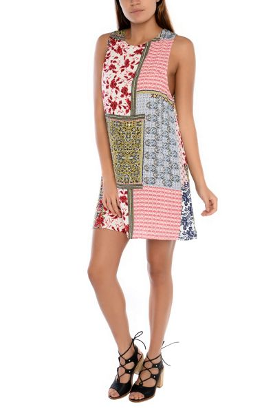 Glamorous Sleeveless Printed Mini Dress