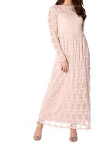 True Decadence Floral Lace Maxi Dress