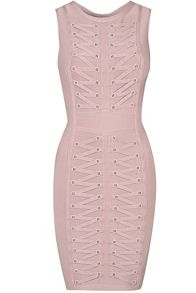 True Decadence Lace Up Bodycon Dress
