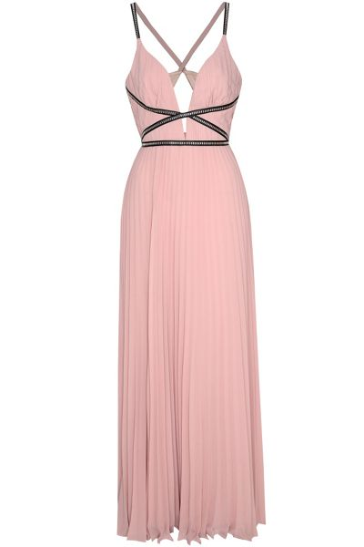 True Decadence Plunge Pleated Maxi Dress