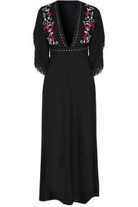 Glamorous Floral Embroidered Maxi Dress