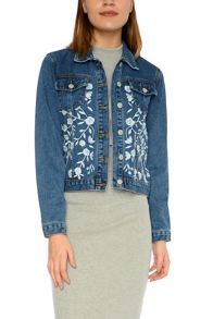 Glamorous Embroidered denim jacket