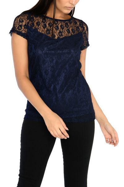 Alice & You Short Sleeve Lace Top