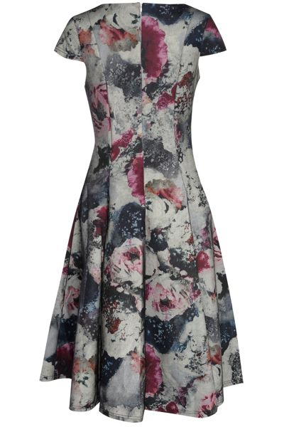 True Decadence Short Sleeve Floral Midi Dress
