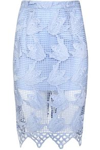Glamorous Crochet Pencil Skirt