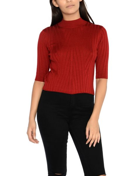 Alice & You Short Sleeve Knitted Top