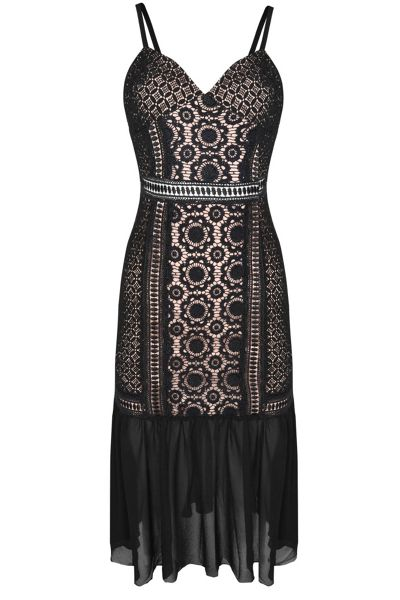 Glamorous Lace Drop Waist Bodycon Dress