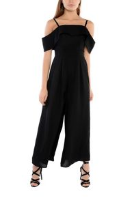 True Decadence Black Bardot Jumpsuit