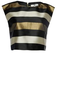 True Decadence Striped Crop Top