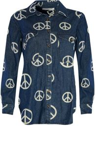 Glamorous Peace Sign Denim Shirt