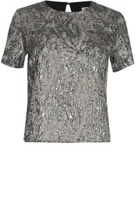 True Decadence Pewter Jacquard Top