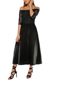 True Decadence Bardot Lace Skater Dress
