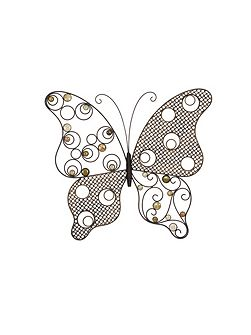 Exotic butterfly wall art