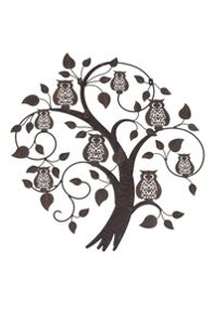 La Hacienda Treetop owls wall art