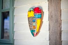 La Hacienda Long heart wall art