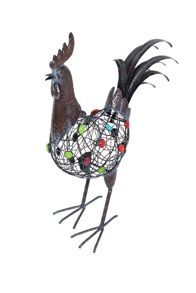 La Hacienda Beaded crowing cockerel ornament
