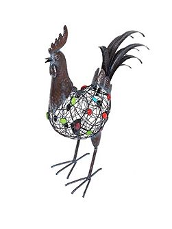 Beaded crowing cockerel ornament