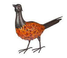 La Hacienda Country pheasant porcelain enamel coated ornament