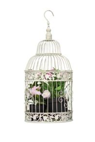Twin set of antique style birdcages