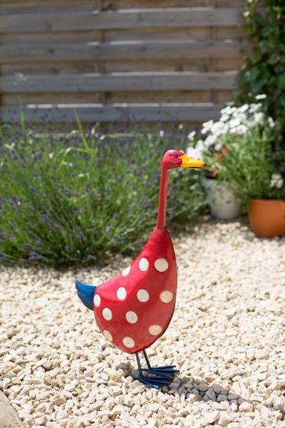 La Hacienda Spotty metal duck ornament